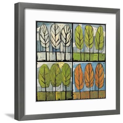 Four Seasons Tree Series Square-Tim Nyberg-Framed Premium Giclee Print