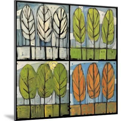 Four Seasons Tree Series Square-Tim Nyberg-Mounted Premium Giclee Print