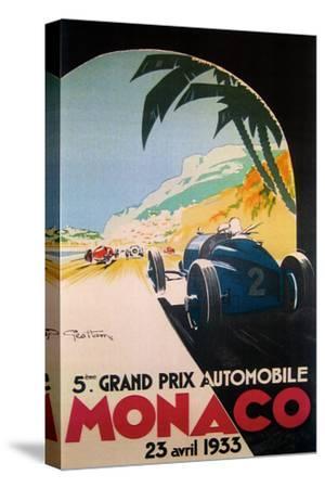 Grandprix Automobile Monaco 1933--Stretched Canvas Print
