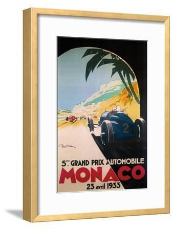 Grandprix Automobile Monaco 1933--Framed Premium Giclee Print
