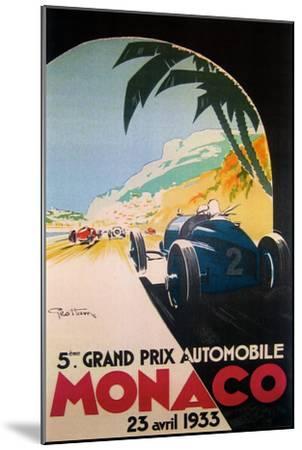 Grandprix Automobile Monaco 1933--Mounted Premium Giclee Print