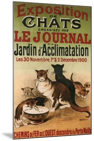 Exposition De Chats--Mounted Giclee Print