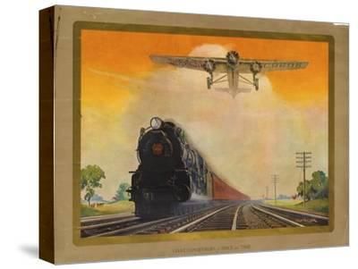 Giant Conquerers of Space and Time Pennsylvania Railroad--Stretched Canvas Print
