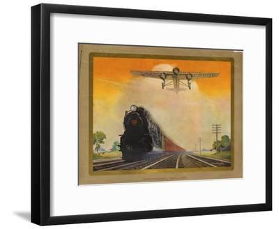 Giant Conquerers of Space and Time Pennsylvania Railroad--Framed Giclee Print