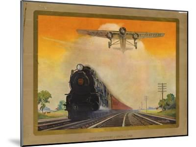 Giant Conquerers of Space and Time Pennsylvania Railroad--Mounted Giclee Print