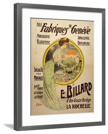 Fabriques Geneve--Framed Giclee Print