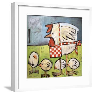 Hen and Chicks after Storm-Tim Nyberg-Framed Giclee Print
