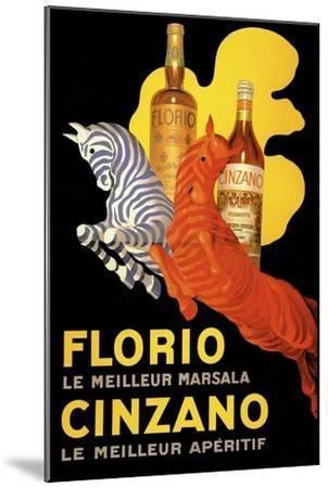 Florio Cinzano--Mounted Giclee Print