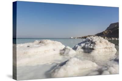 Dead Sea - Salt Deposits-Massimo Borchi-Stretched Canvas Print