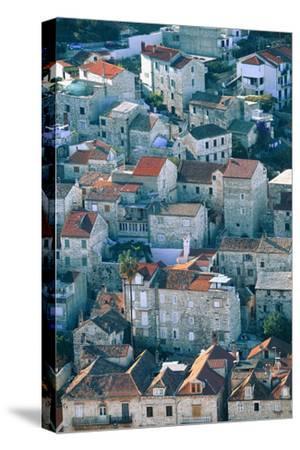 Hvar in Croatia-Peter Adams-Stretched Canvas Print