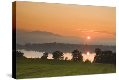 Sunset on Lake Staffelsee-Frank Lukasseck-Stretched Canvas Print