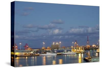 Harbor at Night, Las Palmas, Gran Canaria, Spain-Guido Cozzi-Stretched Canvas Print
