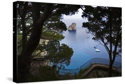 Faraglioni from Giardini (Gardens) Di Augusto, Capri, Capri Island, Campania, Italy-Massimo Borchi-Stretched Canvas Print
