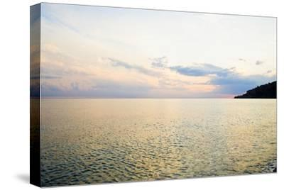 Seascape at Dusk, Guardia Piemontese, Calabria, Italy-Stefano Amantini-Stretched Canvas Print