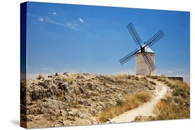 Antique La Mancha Windmills in Consuegra, Spain-Julianne Eggers-Stretched Canvas Print