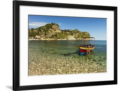 Excursion Boat Moored on Pretty Isola Bella Bay in This Popular Northeast Tourist Town-Rob Francis-Framed Photographic Print