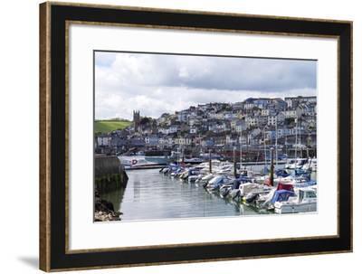 Brixham Harbour and Marina, Devon, England, United Kingdom, Europe-Rob Cousins-Framed Photographic Print