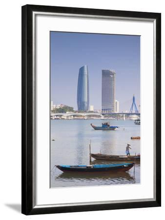 Song River and City Skyline, Da Nang, Vietnam, Indochina, Southeast Asia, Asia-Ian Trower-Framed Photographic Print