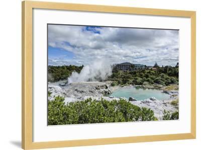 Geysirfield in the Te Puia Maori Cultural Center, Rotorura, North Island, New Zealand, Pacific-Michael Runkel-Framed Photographic Print