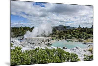 Geysirfield in the Te Puia Maori Cultural Center, Rotorura, North Island, New Zealand, Pacific-Michael Runkel-Mounted Photographic Print