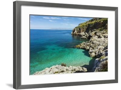 Lovely Limestone Cove at Zingaro Nature Reserve Near Scopello-Rob Francis-Framed Photographic Print