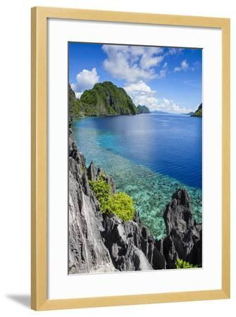 Crystal Clear Water in the Bacuit Archipelago, Palawan, Philippines, Southeast Asia, Asia-Michael Runkel-Framed Photographic Print
