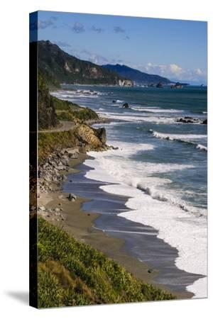 The Untouched West Coast of South Island Between Greymouth and Westport, West Coast, South Island-Michael Runkel-Stretched Canvas Print