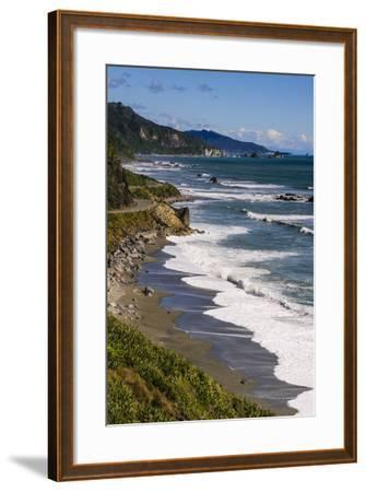 The Untouched West Coast of South Island Between Greymouth and Westport, West Coast, South Island-Michael Runkel-Framed Photographic Print