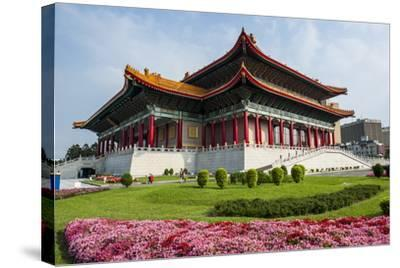 National Theatre on the Grounds of the Chiang Kai-Shek Memorial Hall, Taipeh, Taiwan-Michael Runkel-Stretched Canvas Print