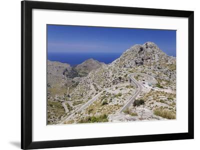 Serpentine Road to the Bay Cala De Sa Calobra-Markus Lange-Framed Photographic Print
