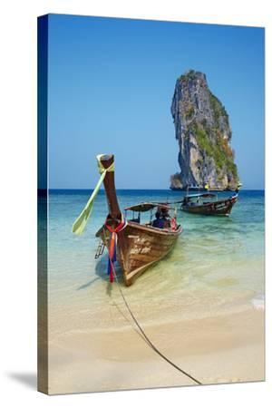 Ao Phra Nang Bay, Ko Poda Island, Krabi Province, Thailand, Southeast Asia, Asia--Stretched Canvas Print