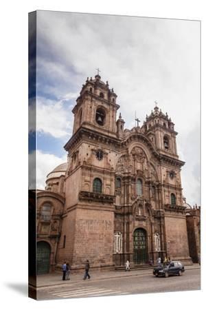 View over Iglesia De La Compania De Jesus Church on Plaza De Armas, Cuzco, Peru, South America-Yadid Levy-Stretched Canvas Print