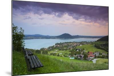 Elevated View over Picturesque Weyregg Am Attersee Illuminated at Dawn, Attersee, Salzkammergut-Doug Pearson-Mounted Photographic Print