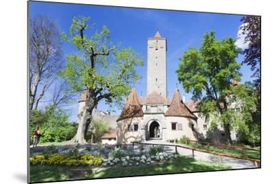 Burgtor Gate and Bastei, Rothenburg Ob Der Tauber, Romantic Road (Romantische Strasse)-Markus Lange-Mounted Photographic Print