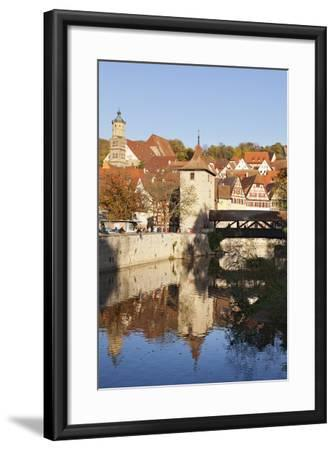 Kocher River and Old Town, Schwaebisch Hall, Hohenlohe, Baden Wurttemberg, Germany, Europe-Markus Lange-Framed Photographic Print
