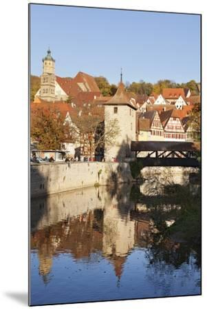 Kocher River and Old Town, Schwaebisch Hall, Hohenlohe, Baden Wurttemberg, Germany, Europe-Markus Lange-Mounted Photographic Print