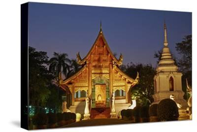 Wat Phra Singh, Chiang Mai, Thailand, Southeast Asia, Asia--Stretched Canvas Print