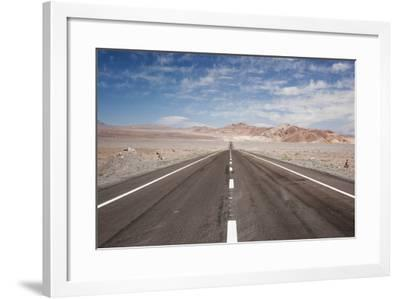 Empty Open Road, San Pedro De Atacama Desert, Chile, South America-Kimberly Walker-Framed Photographic Print