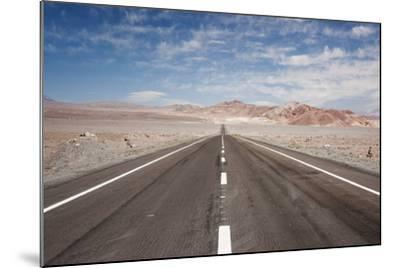 Empty Open Road, San Pedro De Atacama Desert, Chile, South America-Kimberly Walker-Mounted Photographic Print
