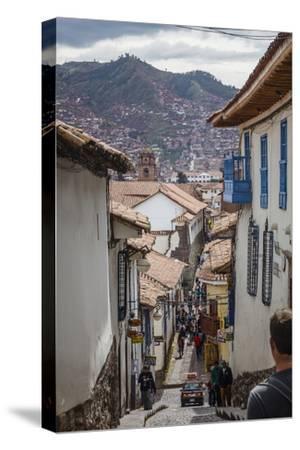 Street Scene in San Blas Neighbourhood, Cuzco, UNESCO World Heritage Site, Peru, South America-Yadid Levy-Stretched Canvas Print