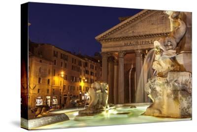 Piazza Della Rotonda and the Pantheon, Rome, Lazio, Italy, Europe-Julian Elliott-Stretched Canvas Print
