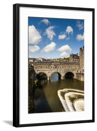 Pulteney Bridge over the River Avon, Bath, Avon and Somerset, England, United Kingdom, Europe-Matthew Williams-Ellis-Framed Photographic Print