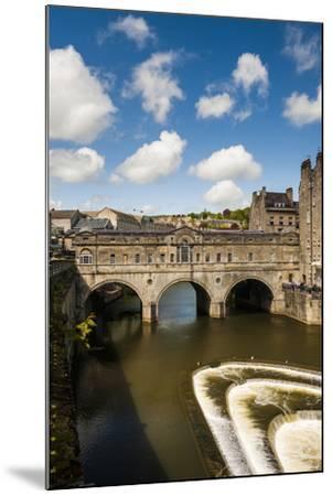 Pulteney Bridge over the River Avon, Bath, Avon and Somerset, England, United Kingdom, Europe-Matthew Williams-Ellis-Mounted Photographic Print