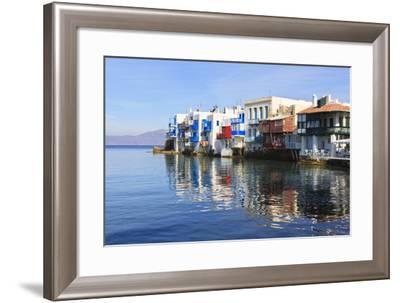 Little Venice Reflections, Mykonos Town (Chora), Mykonos, Cyclades, Greek Islands, Greece, Europe-Eleanor Scriven-Framed Photographic Print