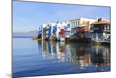 Little Venice Reflections, Mykonos Town (Chora), Mykonos, Cyclades, Greek Islands, Greece, Europe-Eleanor Scriven-Mounted Photographic Print
