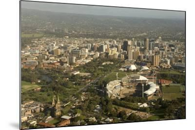 Air View of Downtown Adelaide, South Australia, Australia, Pacific-Tony Waltham-Mounted Photographic Print