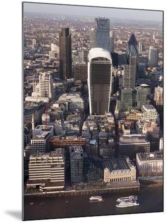 Aerial London Cityscape Dominated by Walkie Talkie Tower, London, England, United Kingdom, Europe-Charles Bowman-Mounted Photographic Print