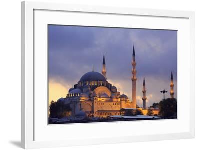 Suleymaniye Mosque, Eminonuand Bazaar District, Istanbul, Turkey, Europe-Richard Cummins-Framed Photographic Print