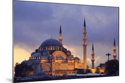 Suleymaniye Mosque, Eminonuand Bazaar District, Istanbul, Turkey, Europe-Richard Cummins-Mounted Photographic Print