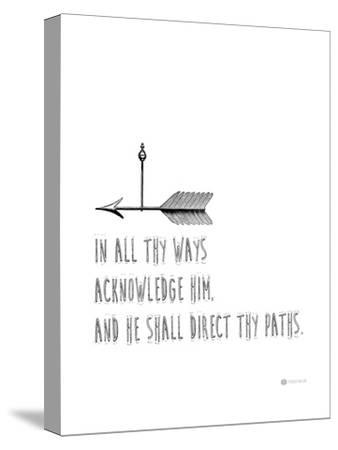 In All Thy Ways-Natasha Wescoat-Stretched Canvas Print